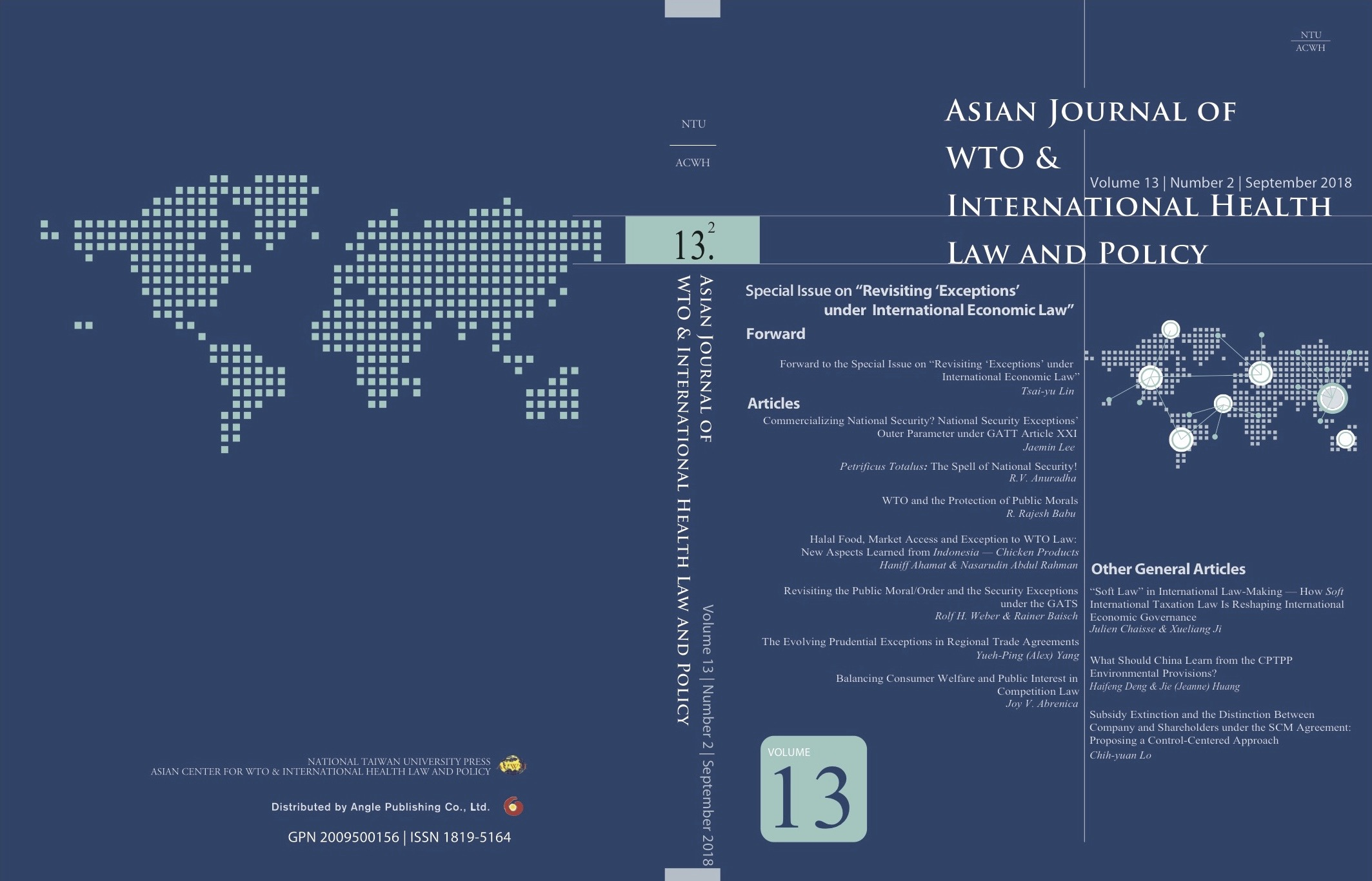 Acwh Asian Center For Wto International Health Law And P Publication